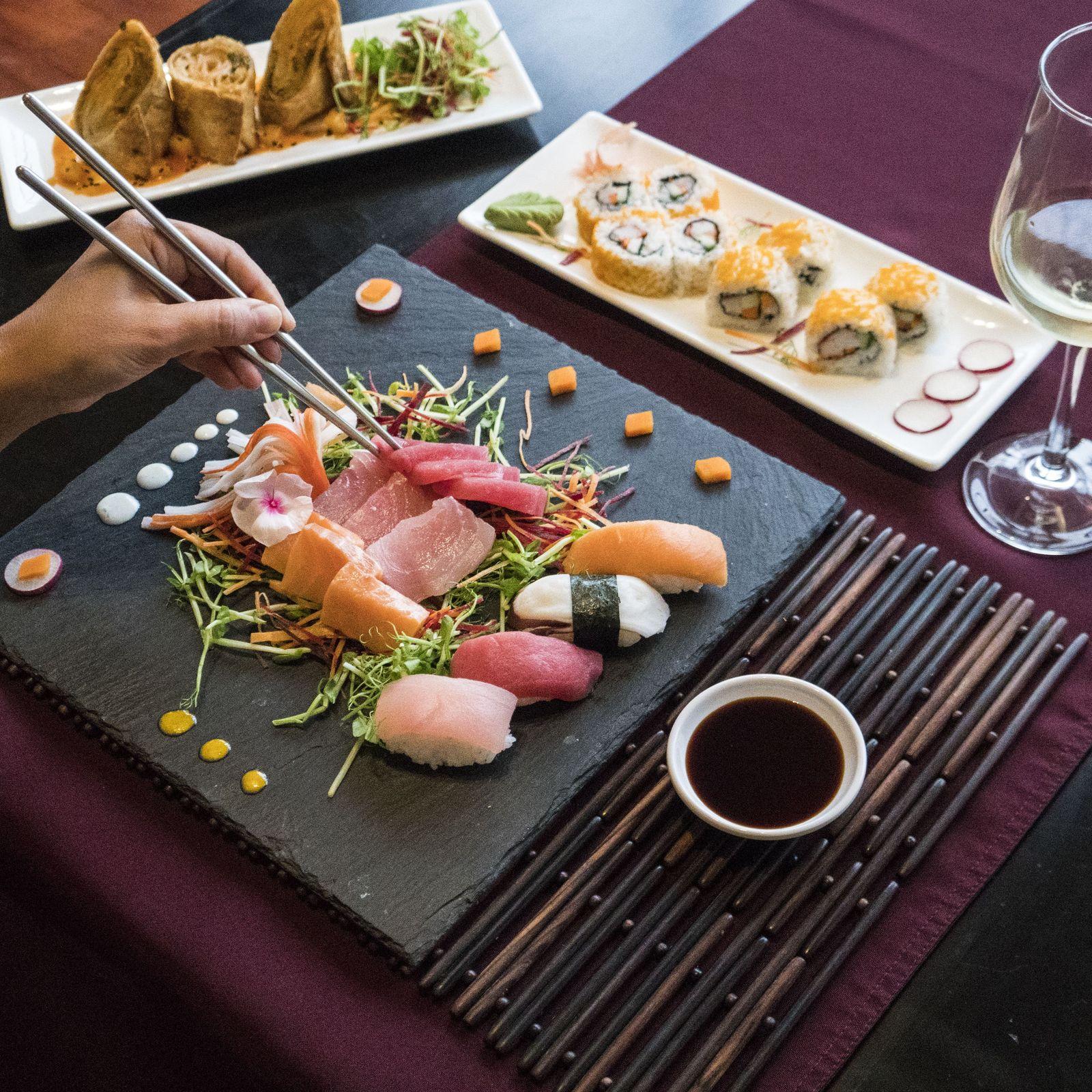 Comida japonesa, sushi en el Golfo de Papagayo
