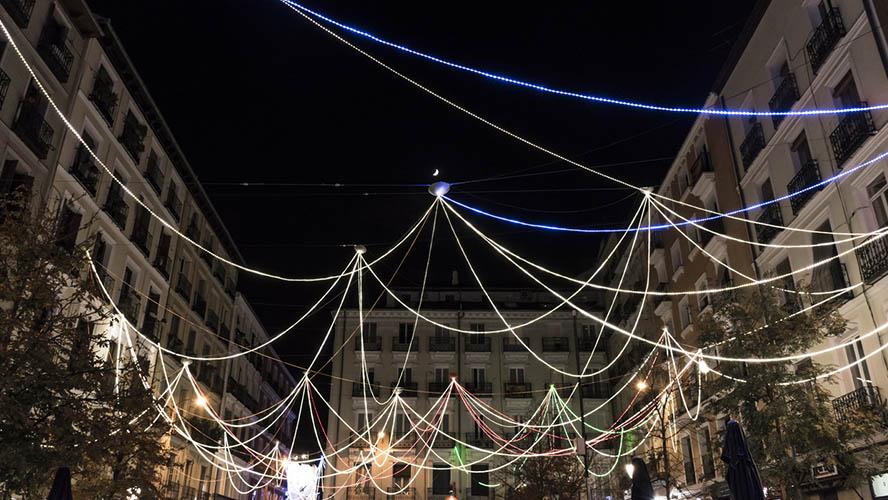 Plaza de Chueca en Navidad