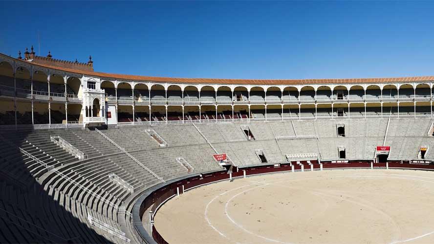 Interior de la Plaza de toros de las Ventas
