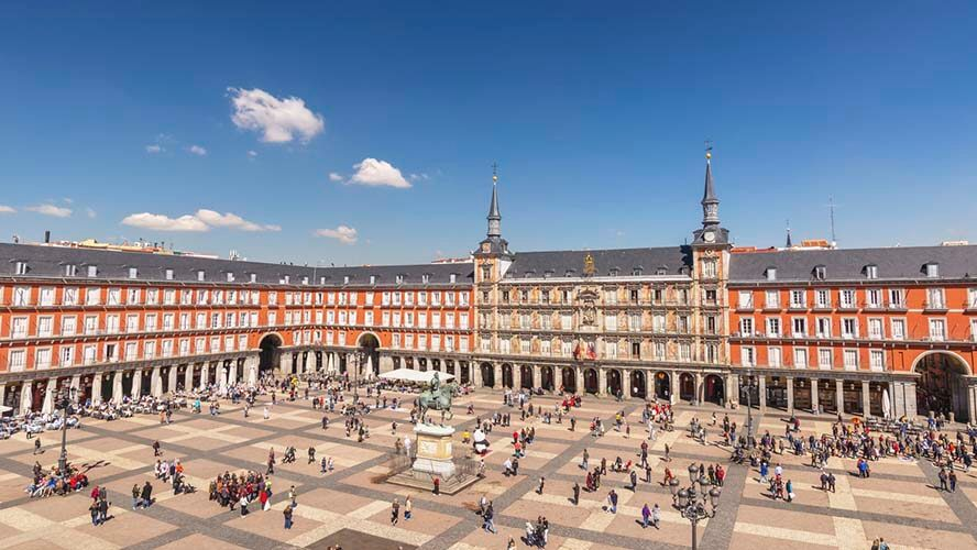 Vista general de la Plaza Mayor de Madrid