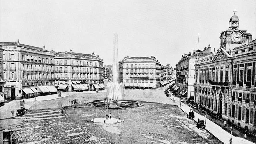 Puerta del Sol en 1880