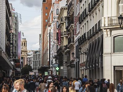 Zona preciados de Madrid