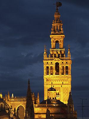 Giralda de Sevilla de noche