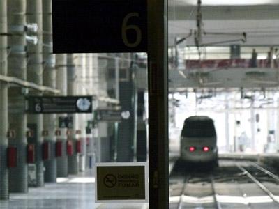 Trenes en la Estación de Atocha