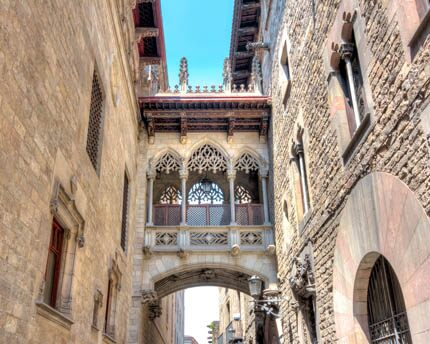 The Gothic Quarter of Barcelona, where the city has its origins