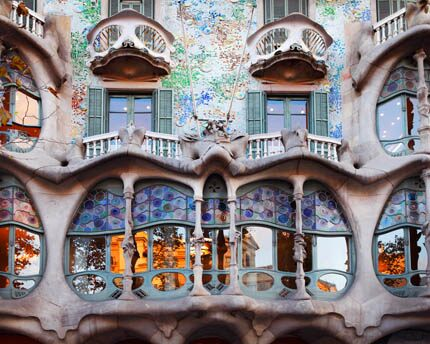 Casa Batlló, a modernist jewel created by Gaudí's fantasies