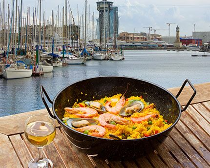 Barcelona's typical food, where the sea meets the mountains