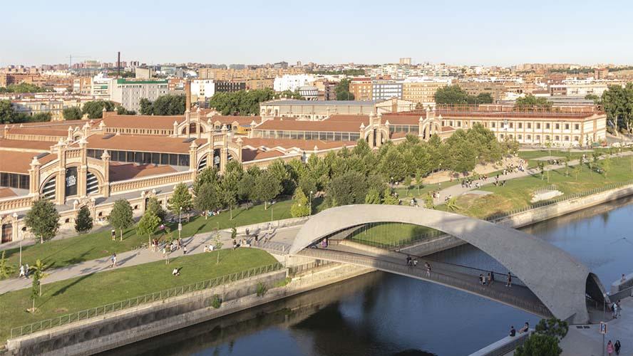 Vista del Matadero, Madrid Río