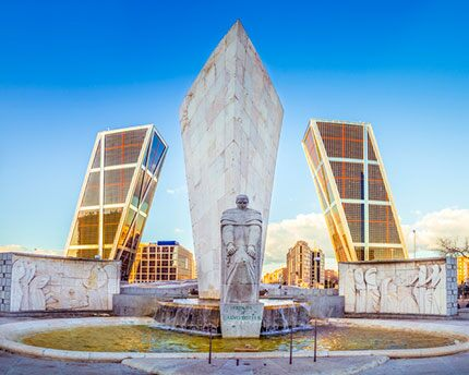Plaza de Castilla, home to Madrid's 'twin towers'