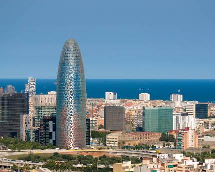 Torre Agbar, la punta de lanza de la Barcelona más tecnológica y sostenible