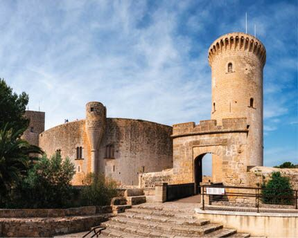 Bellver Castle, a bastion located on the bay of Palma
