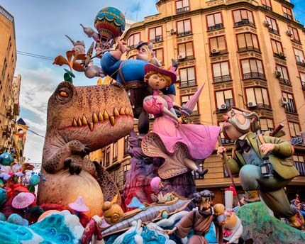 The Falles in Valencia, time to light the firecrackers