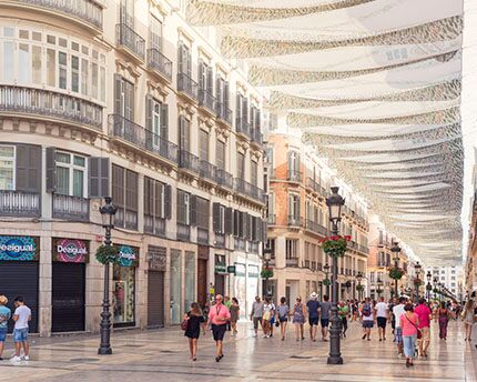 Calle Larios in Málaga. The commercial heart of the city