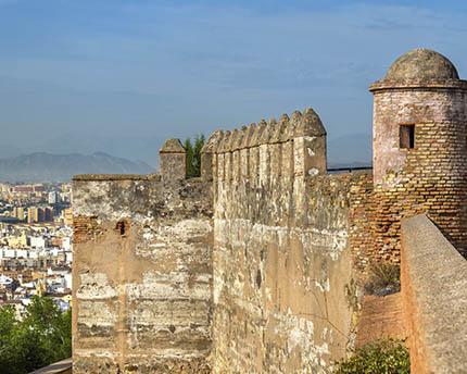 El castillo de Gibralfaro, el gran mirador de Málaga