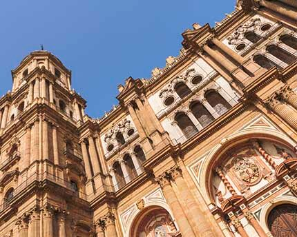 Málaga Cathedral, the 'one-armed' edifice that dominates the city's historic centre