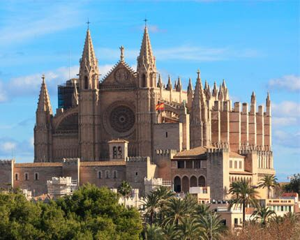 Palma Cathedral, an imposing Gothic temple overlooking the sea