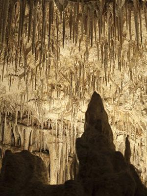 Estalactitas en la Cuevas del Drach