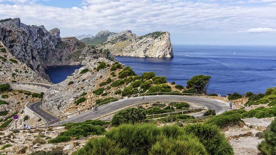 Carretera camino a Cap Formentor