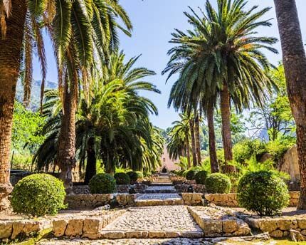 Los jardines árabes y mágicos de Alfabia
