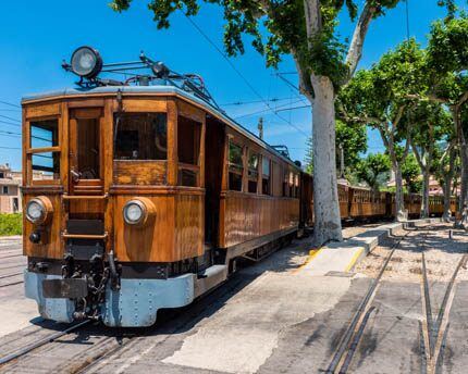 The Soller train, a journey back in time through the Tramontana mountain range