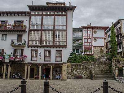 Casas antiguas en el centro de Hondarribia