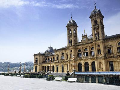 Fachada del ayuntamiento de San Sebastián