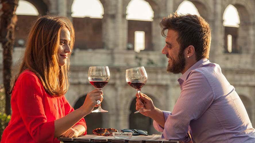 Restaurantes románticos en Roma