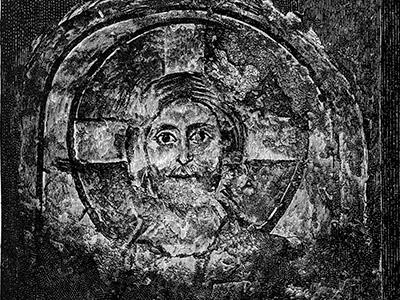 Imagen de Cristo en las catacumbas