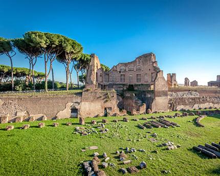 Monte Palatino, el hogar de los emperadores