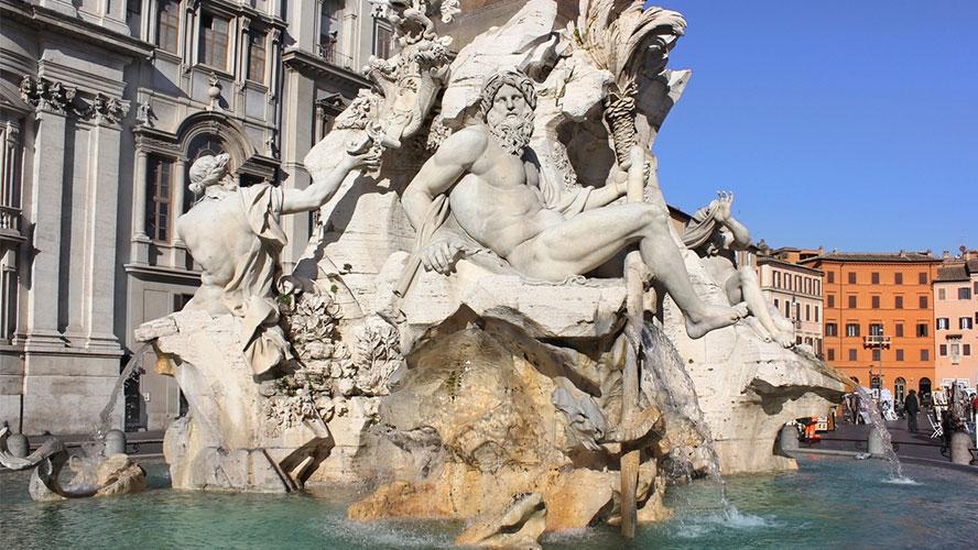 Fontana de los Cuatro Ríos.