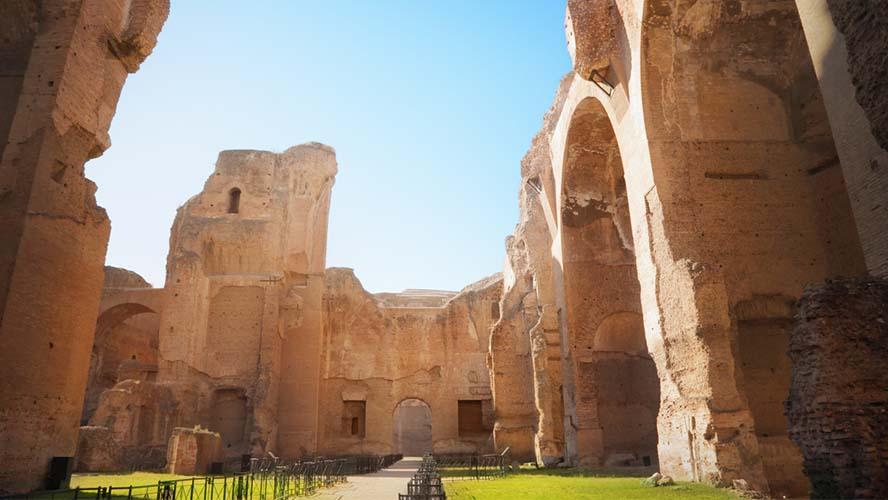 Interior de las Termas de Caracalla
