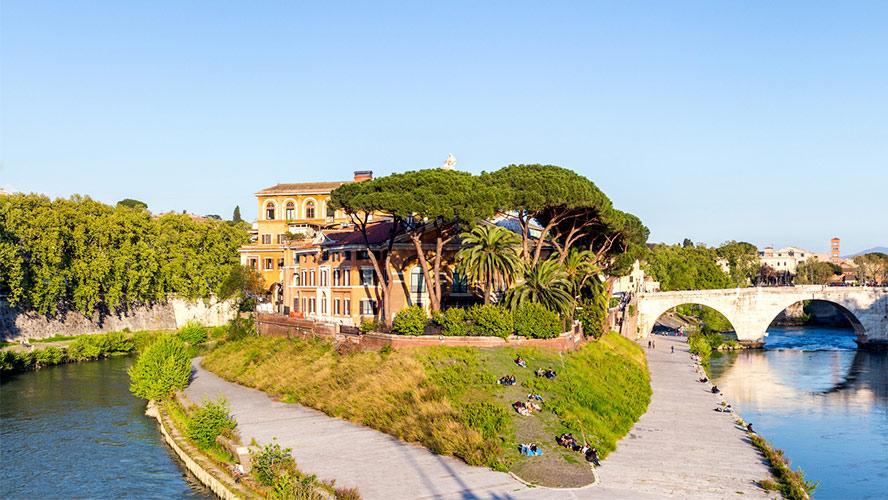 Isla Tiberina de Roma
