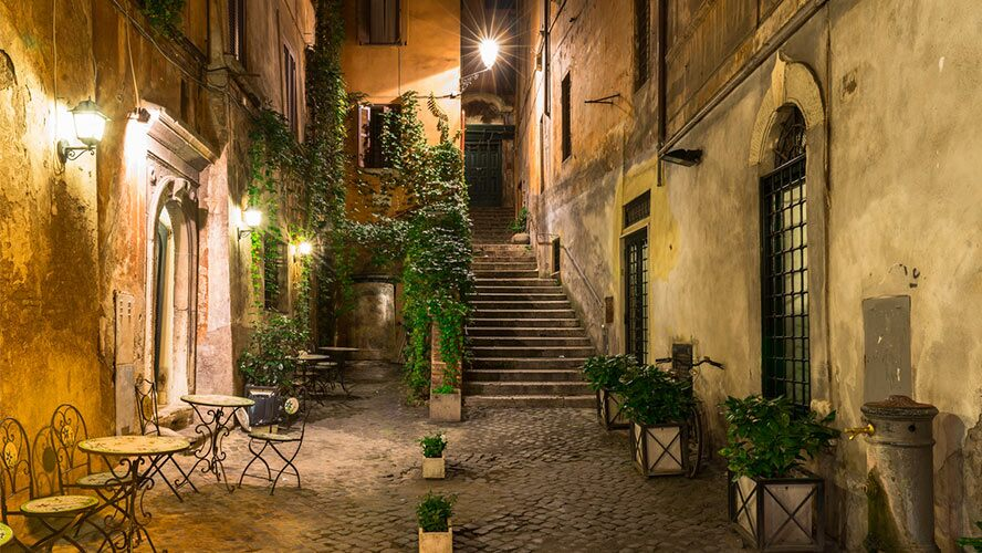 vieja calle de Roma.