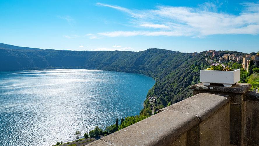 Vistas lago Castel Gandolfo