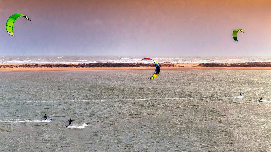 kitesurf en el portil.
