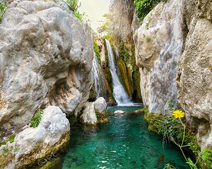 Fuentes del Algar, un parque acuático natural
