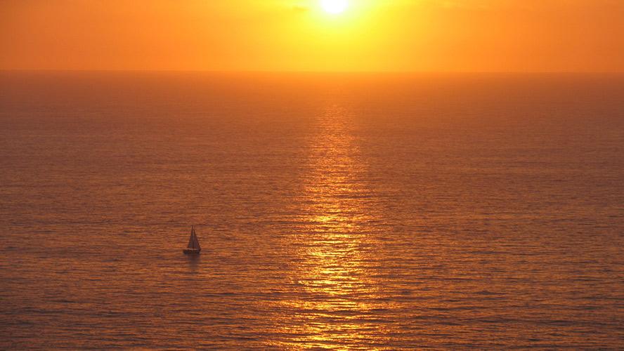puesta de sol en Isla Cristina