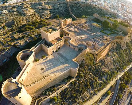 Vista cenital de la Alcazaba