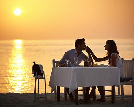 cena romántica Huelva