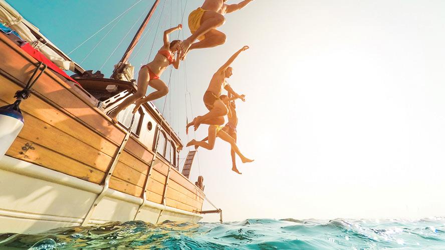 salto en Ibiza