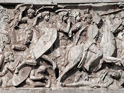 Arco de Constantino relieves
