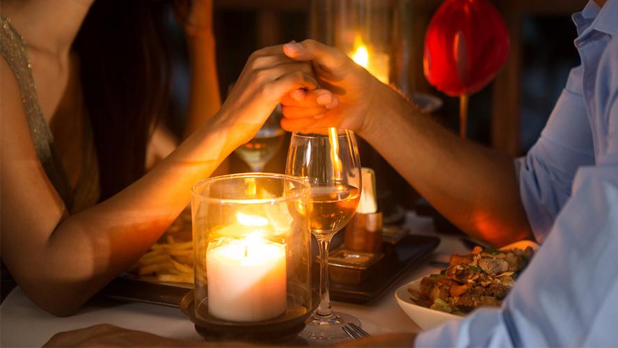 cena romántica Ibiza