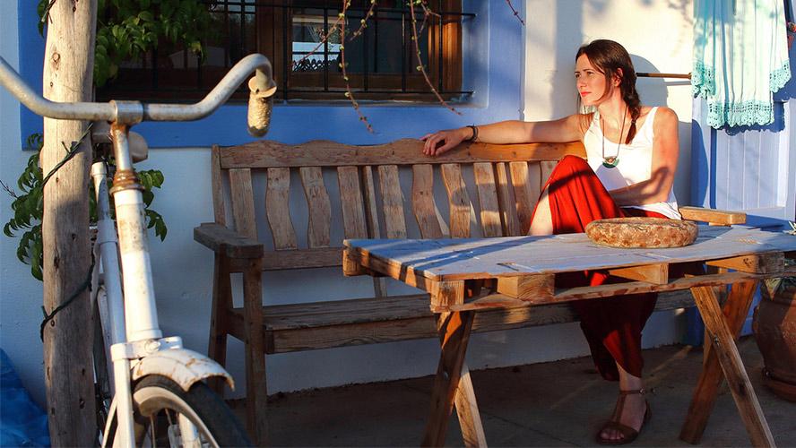 chica bici Formentera