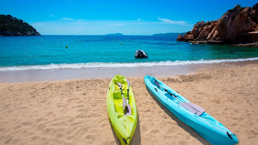 Kayaks de alquiler en Ibiza