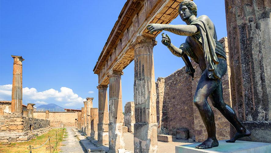 Estatua de Apolo en Pompeya