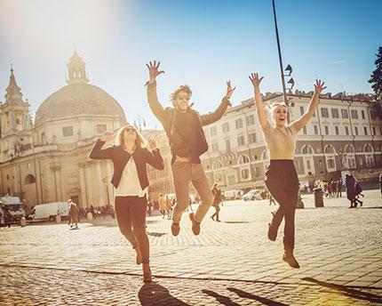 Roma con amigos