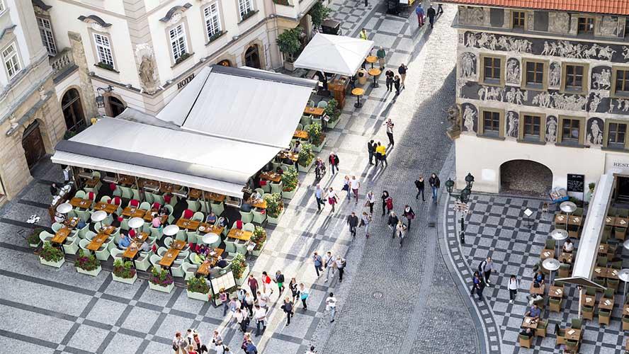 Cafeterías en Praga