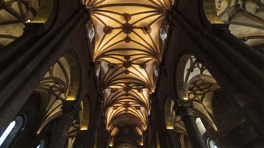 El interior de la Catedral de Jaca