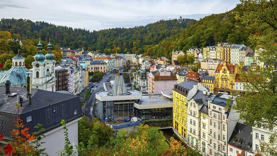 Una vista general de Karlovy Vary