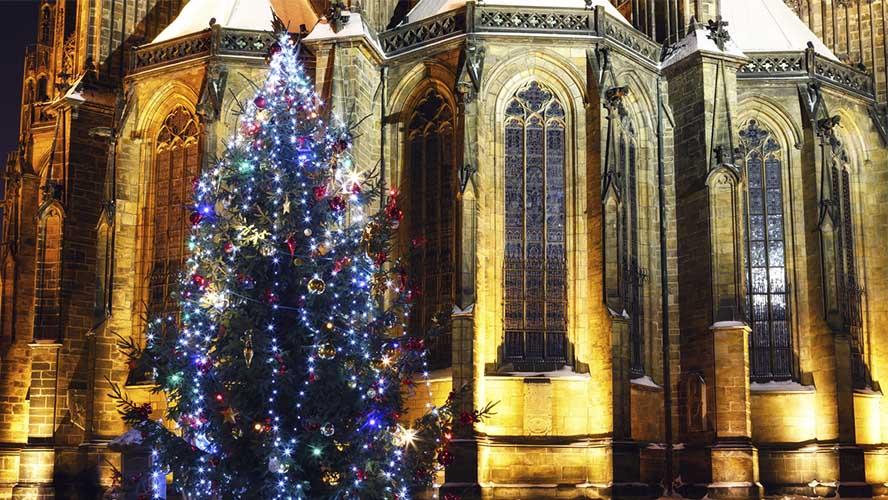 La Catedral de Praga en Navidad